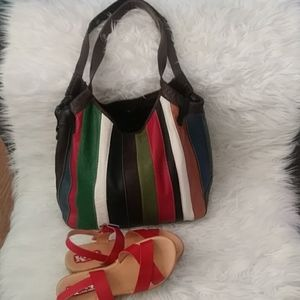 EUC Lucky Brand Patchwork Hobo Bag